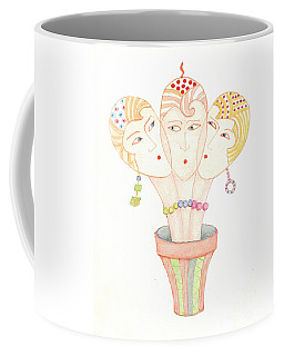 Flower Pot Ladies Coffee Mug