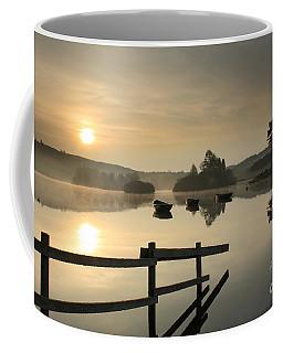 Coffee Mug featuring the photograph Knapps Loch Sunrise by Maria Gaellman