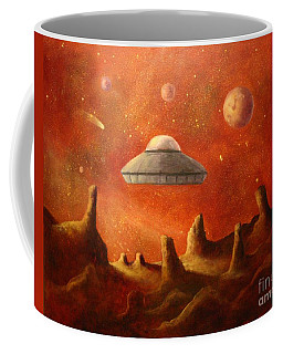 Mysterious Planet Coffee Mug by Randy Burns