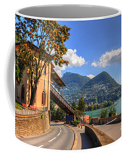 Road And Mountain Coffee Mug