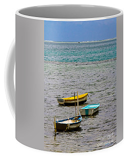 Coffee Mug featuring the photograph 3 Boats by Mitch Shindelbower