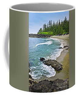 Coast Of Pacific Ocean In Canada Coffee Mug by Elena Elisseeva