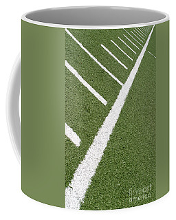 Coffee Mug featuring the photograph Football Lines by Henrik Lehnerer