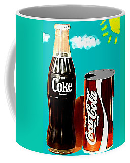 Coffee Mug featuring the digital art 70's Coke by Paul Van Scott