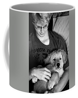 Coffee Mug featuring the photograph A Boy And His Dog by Lorraine Devon Wilke