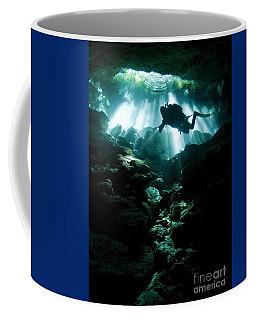 A Cavern Diver Enters The Taj Mahal Coffee Mug