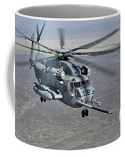 A Ch-53e Super Stallion Approaches Coffee Mug