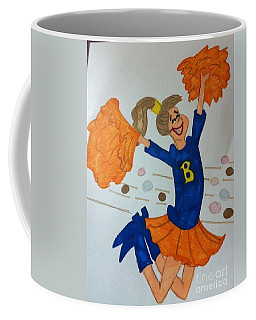 A Cheerful Cheerleader Coffee Mug