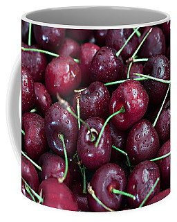 Coffee Mug featuring the photograph A Cherry Bunch by Sherry Hallemeier