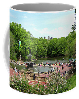 Coffee Mug featuring the photograph A Day At The Park Fountain by Lorraine Devon Wilke