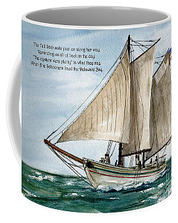 Coffee Mug featuring the painting A Delightful Day On The Delaware Bay   by Nancy Patterson