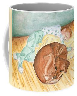 A Dog And Her Boy Coffee Mug
