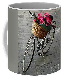 Coffee Mug featuring the photograph A Flower Delivery by Vivian Christopher