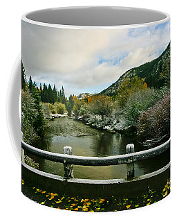 Coffee Mug featuring the photograph A Light Dusting Of Color by Mitch Shindelbower