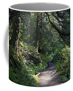 A Light In The Forest - Olympic National Park Coffee Mug