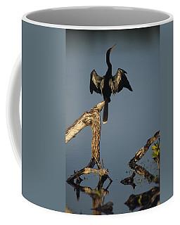A Male Anhinga Perches On A Tree Stump Coffee Mug