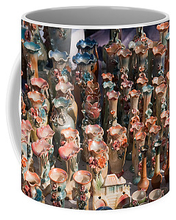 A Number Of Clay Vases And Figurines At The Surajkund Mela Coffee Mug by Ashish Agarwal