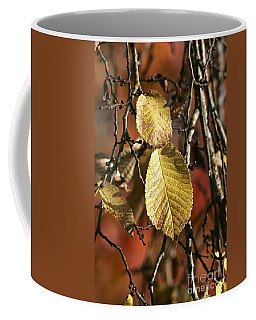 Coffee Mug featuring the photograph A Pair Of Yellow Leaves by Sean Griffin