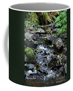 Coffee Mug featuring the photograph A Peaceful Stream by Chalet Roome-Rigdon