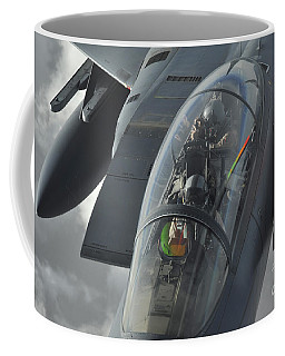 A Pilot Onboard A U.s. F-15e Strike Coffee Mug