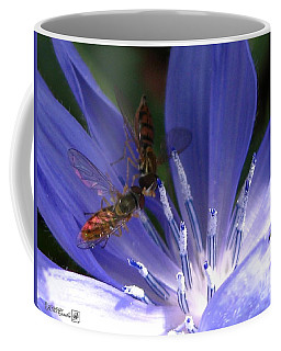 Coffee Mug featuring the photograph A Quiet Moment On The Chicory by J McCombie