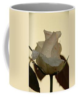 A Single White Rose Coffee Mug by Randy J Heath