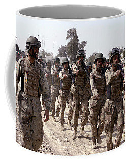 A Soldier Marches His Troops Coffee Mug