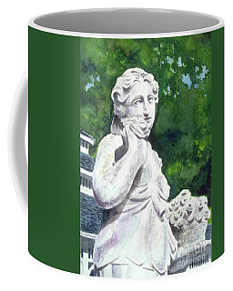 Coffee Mug featuring the painting A Statue At The Wellers Carriage House -1 by Yoshiko Mishina