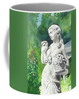 Coffee Mug featuring the painting A Statue At The Wellers Carriage House -2 by Yoshiko Mishina