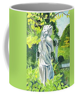 Coffee Mug featuring the painting A Statue At The Wellers Carriage House -3 by Yoshiko Mishina