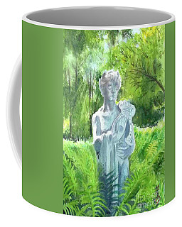 Coffee Mug featuring the painting A Statue At The Wellers Carriage House -4 by Yoshiko Mishina