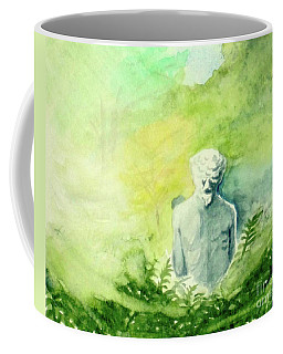 Coffee Mug featuring the painting A Statue At The Wellers Carriage House -5 by Yoshiko Mishina