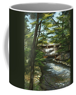 Coffee Mug featuring the painting A Summer Walk Along The Creek  by Nancy Patterson