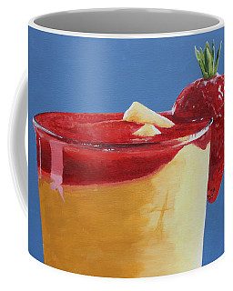 Coffee Mug featuring the painting A Summertime Drink..... by Betty-Anne McDonald