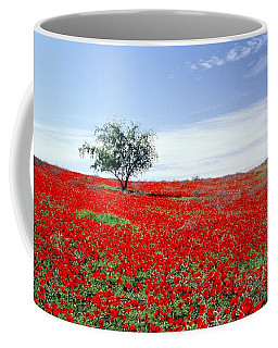 A Tree In A Red Sea Coffee Mug