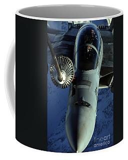 A U.s. Navy F-18 Hornet Is Refueled Coffee Mug