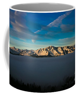 Coffee Mug featuring the photograph Above The Fog by Mitch Shindelbower
