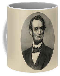 Coffee Mug featuring the photograph Abraham Lincoln Portrait by International  Images