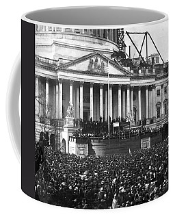 Coffee Mug featuring the photograph Abraham Lincolns First Inauguration - March 4 1861 by International  Images
