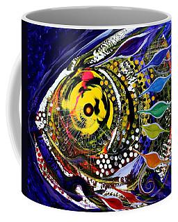 Abstract Busy Bee Fish Coffee Mug
