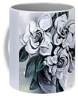 Abstract Gardenias Coffee Mug