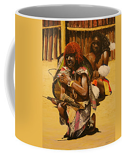 Coffee Mug featuring the painting African Men by Betty-Anne McDonald