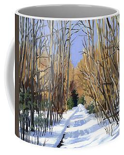Airline Trail In Winter Coffee Mug by Alecia Underhill