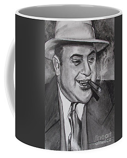 Coffee Mug featuring the painting Al Capone 0g Scarface by Eric Dee