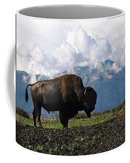 Alaskan Buffalo Coffee Mug by Katie Wing Vigil