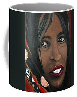 Coffee Mug featuring the painting Alem E. W. by Anna Ruzsan