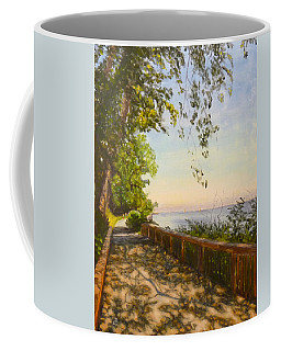 Coffee Mug featuring the painting Along The Bay by Joe Bergholm
