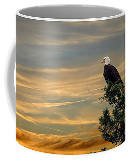 Coffee Mug featuring the photograph American Eagle Sunset by Dan Friend
