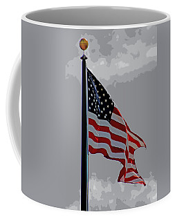 Coffee Mug featuring the photograph American Flag At Pearl Harbor by Elizabeth  Doran