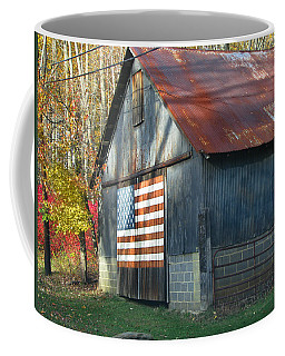 Coffee Mug featuring the photograph Americana Barn by Clara Sue Beym